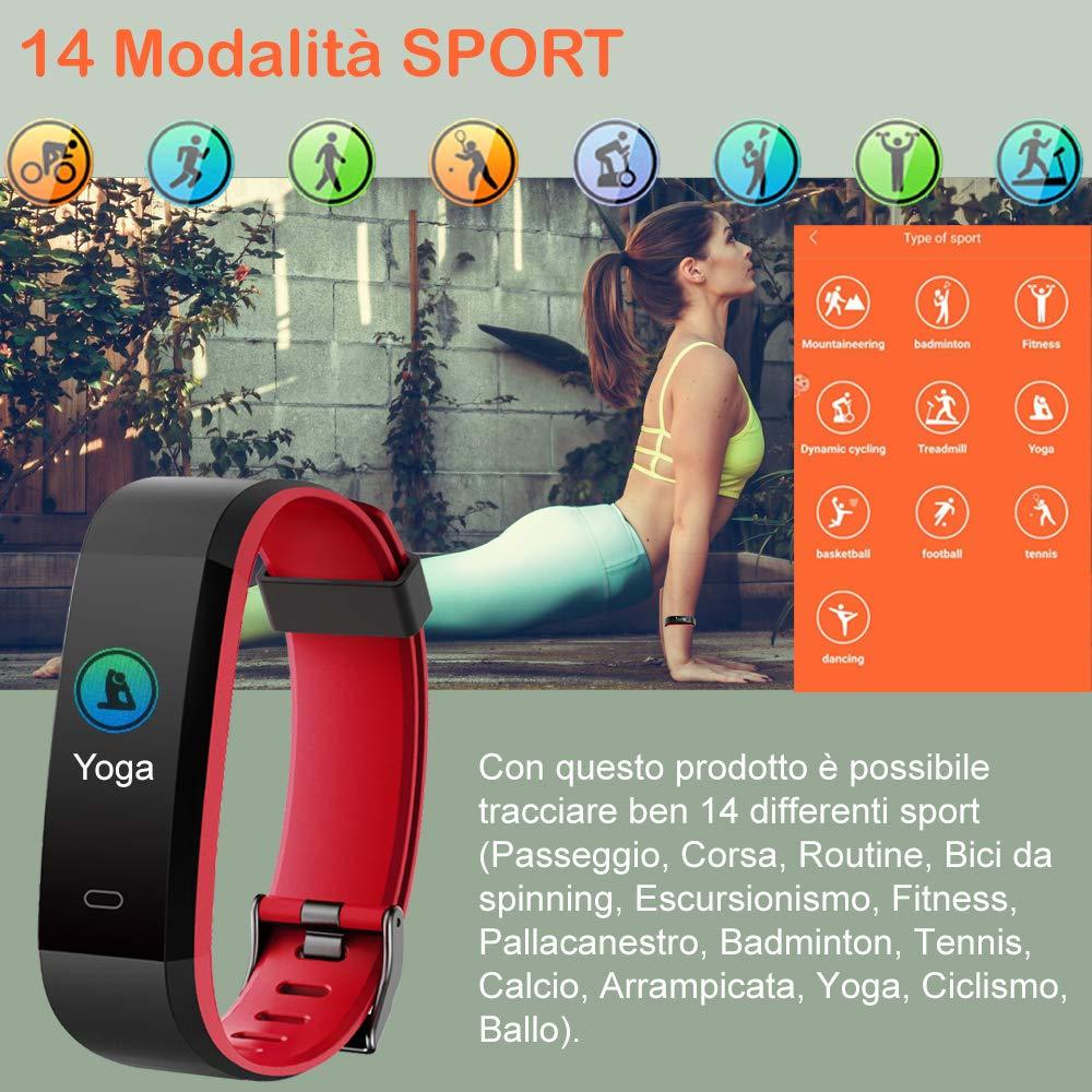 Willful Smartwatch Orologio Fitness Tracker Android iOS Uomo Donna Bambini Impermeabile IP68 Cardiofrequenzimetro da Polso Smart Watch Braccialetto Pedometro Contapassi per iPhone Samsung Huawei