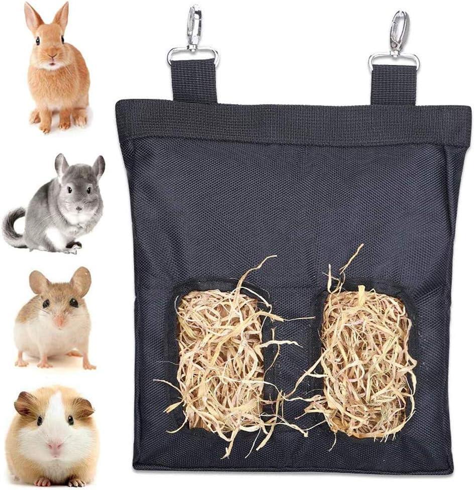 GZGZADMC - Bolsa de Heno, Comedero de Heno de Cuy, Comedero de Heno para Mascotas, Adecuado para Conejos, Cobayas, Chinchillas o Animales Pequeños