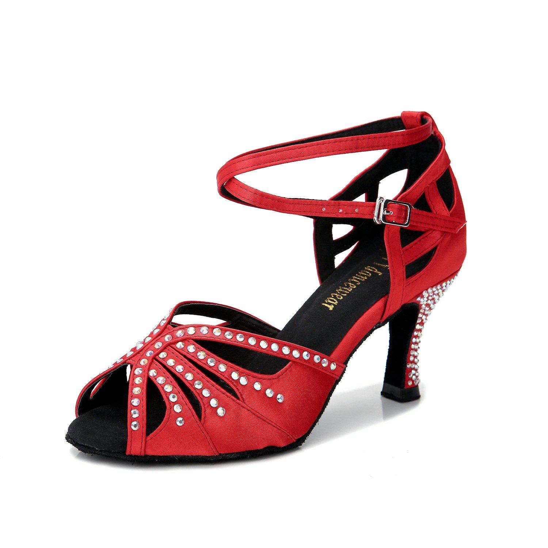 [TTdancewear] レディース 赤-2.5inch Heels 10 B(M) US