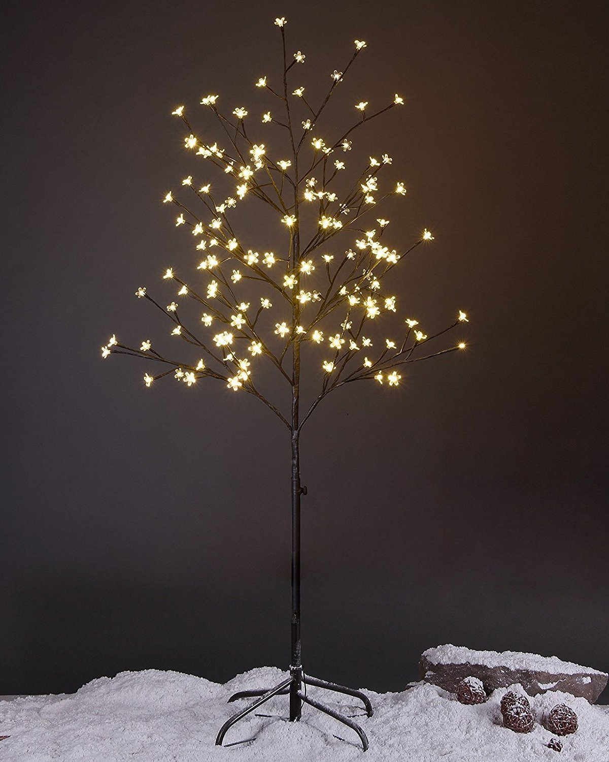 Lightshare LED Blossom Tree, 5 Feet, Warm White Light, Brown Finish, Perfect for Home Decoration, Wedding, Party J-XTHS5FT-WW