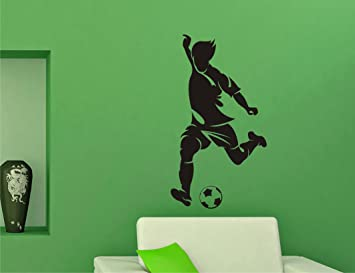 Buy Football Player Black Wall Sticker Size55 99 Cm Online At