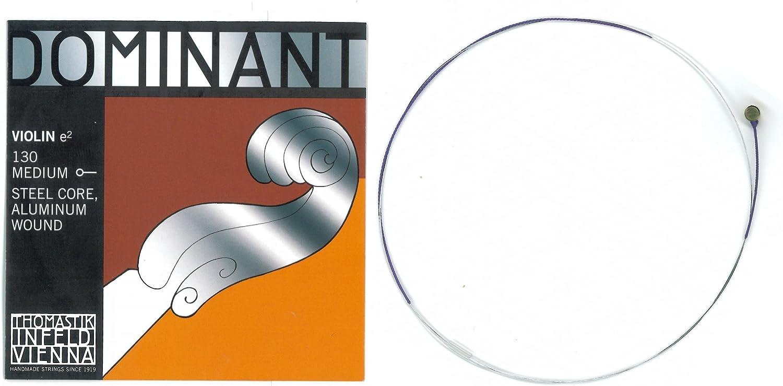 E-Saite aus Chromstahl Blank Hochwertiger Dominat 135B Saitensatz für 4//4 Geige
