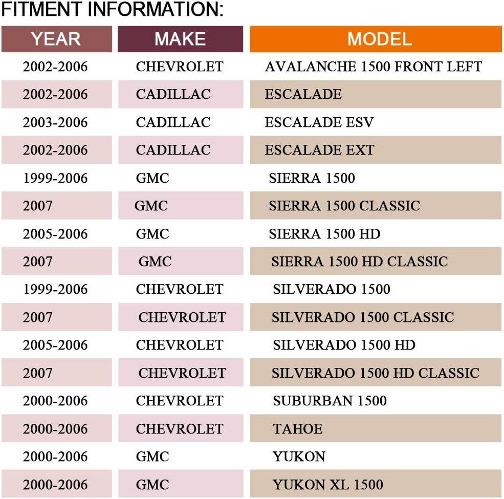 GMC Sierra//Yukon//Yukon XL 2000-06 Cadillac Escalade ESV//EXT 03-06 for Silverado 99-06 DRIVESTAR 697-907 Front Steering Knuckle Left//Driver Side for Ford Explorer Mercury Mountaineer 2002-05