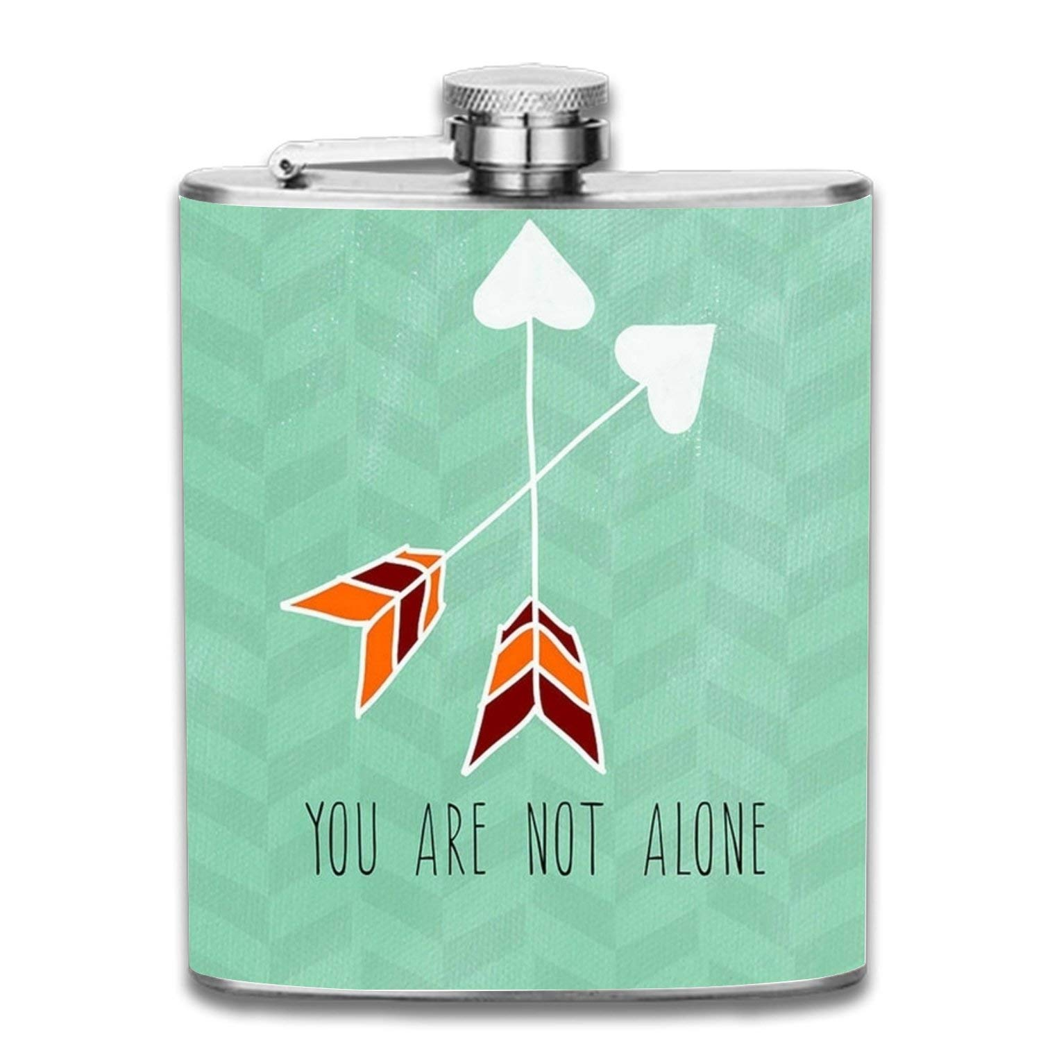 Wdskbg Flowers and Butterflies Portable 7oz Stainless Steel Hip Flask Alcohol Flagon Unisex8