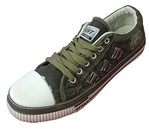 e87b71413b73d7 JM-5715 Men's Denim Sneakers Lace up Mid Top Casual Jeans Canvas Shoes  Fashion Stone