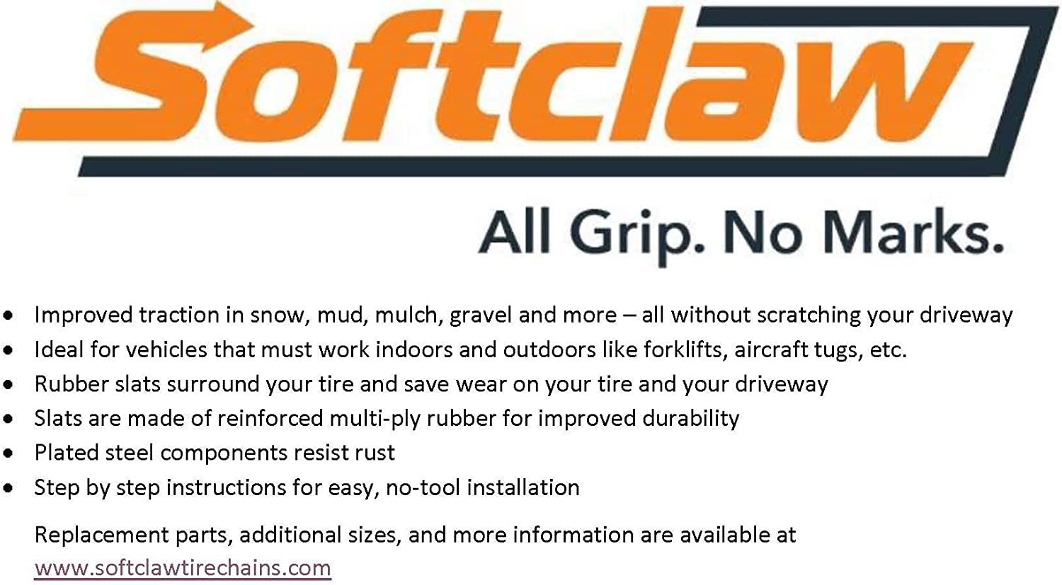 SoftClaw Rubber Tire Chains 26x12.00-12