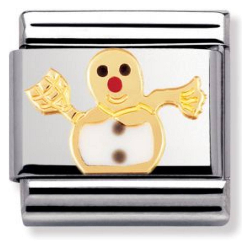 030225 Femme Nomination Maillon pour bracelet composable Acier inoxydable et Or jaune 18 cts