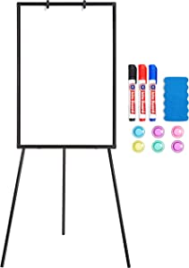 Topeakmart Portable Magnetic White Board 36x24 Tripod Whiteboard Height Adjustable Dry Erase Board for Office Meeting Teaching at Home & Classroom