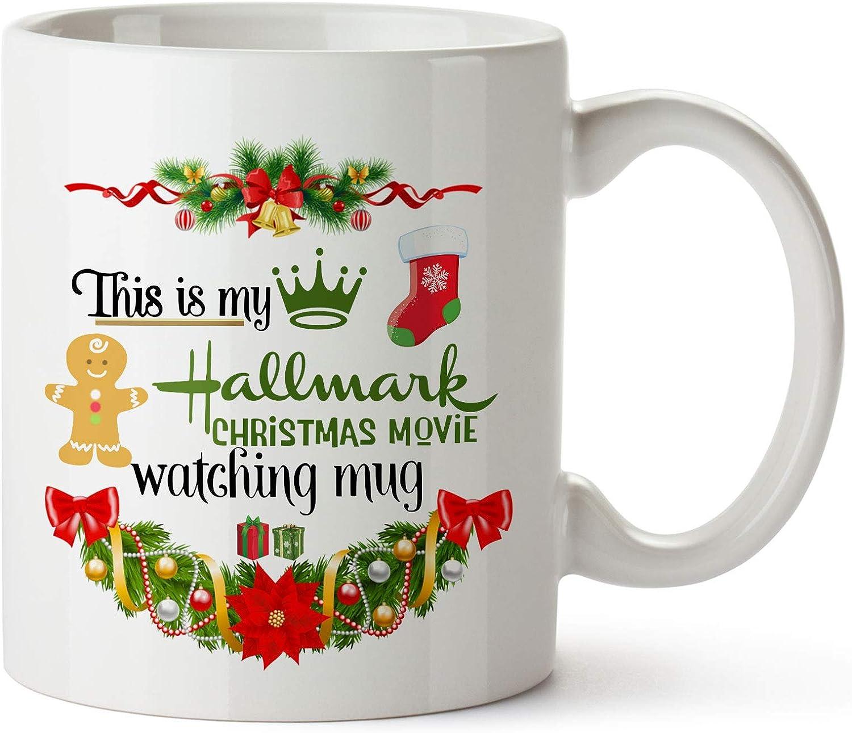 Christmas Movie Watching Mug, Funny Coffee Mugs Birthday Holiday Gifts For Women,Movie Lovers,Friends