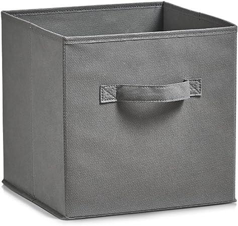 Zeller 14603 Caja de Almacenaje, Non-Woven, Gris, 26x26x26 cm: Amazon.es: Hogar