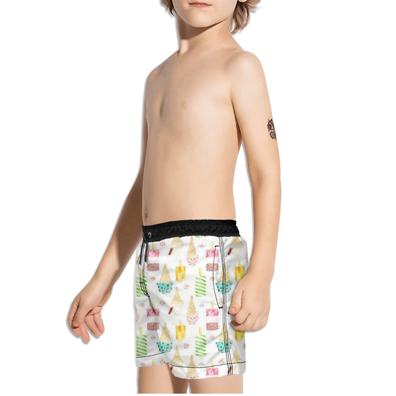 Ouxioaz Boys Swim Trunk Cute ice Cream Beach Board Shorts