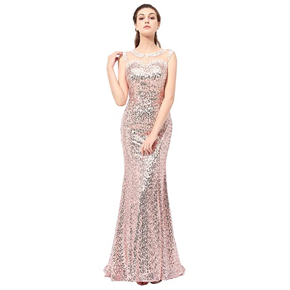 Aiyana Elegante Golden Mermaid Sweetheart Sparkly Lace Long Prom Evening Bridesmaid Dress
