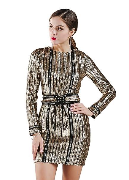 vestito donna oro