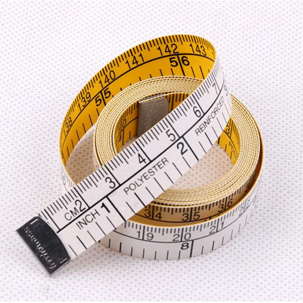 PRENKIN 1.5m Escala Doble Cinta m/étrica Flexible Suave P/érdida Regla Peso Corporal de Costura a Medida de Tela Regla