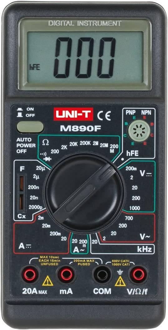 m890/F UNI-T Multim/ètre num/érique multifr/équences noir