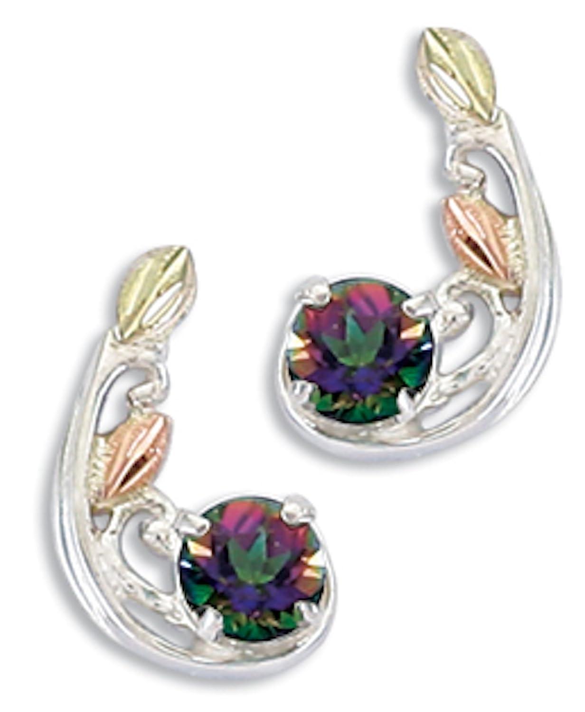 Black Hills Gold Jewelry Silver Mystic Fire Earrings
