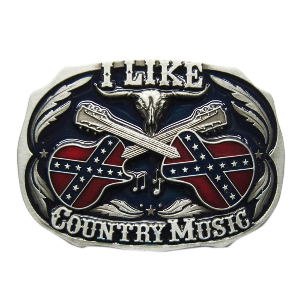Tattoo Skull Country Music Guitar Belt Buckle Mix Styles Choice Stock in US