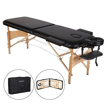 Lettino Da Massaggio Portatile Leggero.Lettino Da Massaggio Deluxe A 2 Sezioni Tavolo Da Massaggio