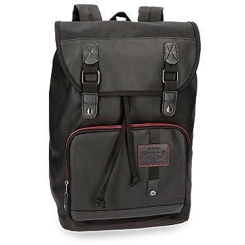 Pepe Jeans Baker Mochila Tipo Casual, 40 cm, 22.4 litros, Negro: Amazon.es: Equipaje
