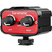 Saramonic AX100 Dual Channel Mini Audio Mixer Microphone adaptor interface Combiner for DSLR Cameras & Camcorders Mic (with Stereo & Dual Mono 3.5mm Inputs )