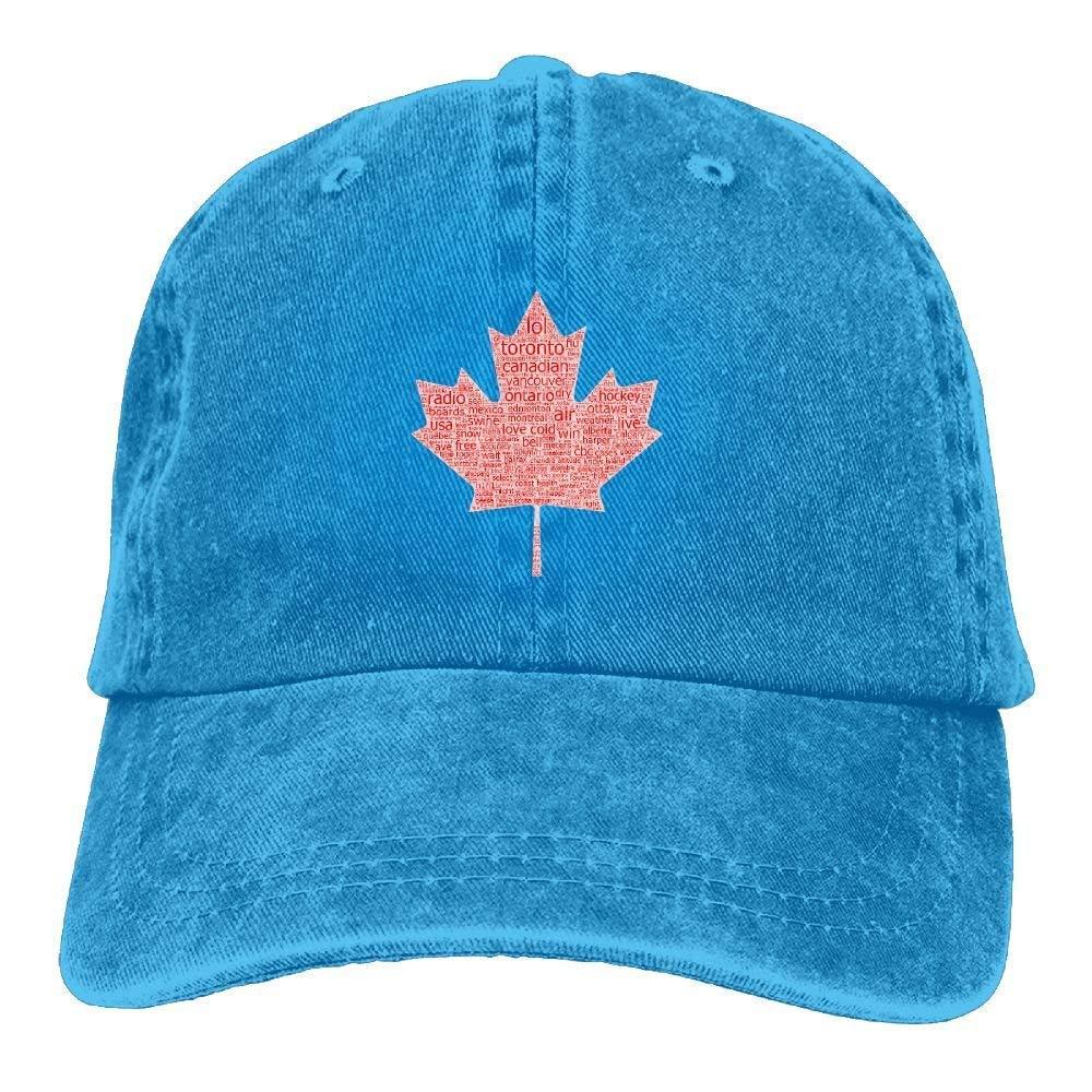 e711bcea64a Yuan Kun Kanada Ve Alaska Unisex Washed Adjustable Vintage Cowboy Hat Denim  Baseball Caps at Amazon Men s Clothing store