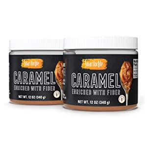 Smart for Life Caramel Enriched with Fiber, 2 Pack -12 Oz. Caramel Sauce - No preservatives. Thick and Rich. Sugar Alcohol free, Gluten Free, Dessert and Breakfast Topping.