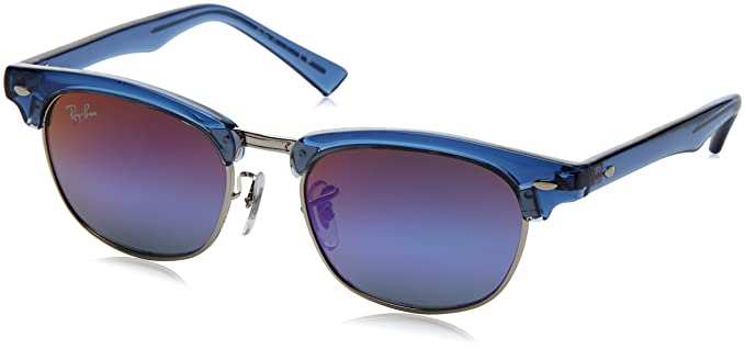 1MsZH1XJzU JUNIOR Kids Junior Clubmaster 7037B1 Sunglasses, Transparent Bluette/Greenmirrorblueegradviolet, 45 Ray-Ban