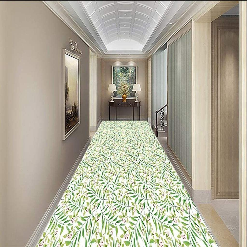 Soft and Cut Long Corridor Rug Foyer Anti-Slip Foot Mat Bathroom Toilet Door Mat Color : A, Size : 0.93m