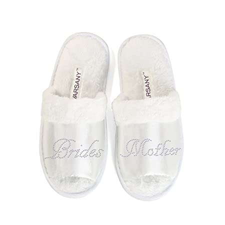 41b94a2e1 New Clear Brides Mother Party Slippers Bride Bridesmaid Spa Hen Weekends  Wedding Gift By Varsany (OT)  Amazon.co.uk  Kitchen   Home