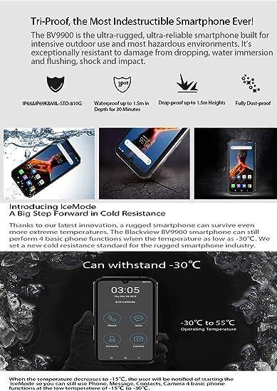 Para todo tipo de personas Wr BV9900, 8 GB + 256 GB, IP68 / IP69K impermeable a prueba de polvo a prueba de golpes, Cámaras Triple posterior, 4380mAh de la batería, de