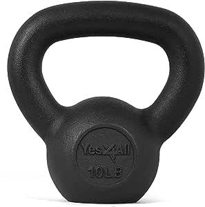 Yes4All Juego de pesas rusas de hierro fundido sólido – ideal para entrenamiento de cuerpo completo y entrenamiento de fuerza