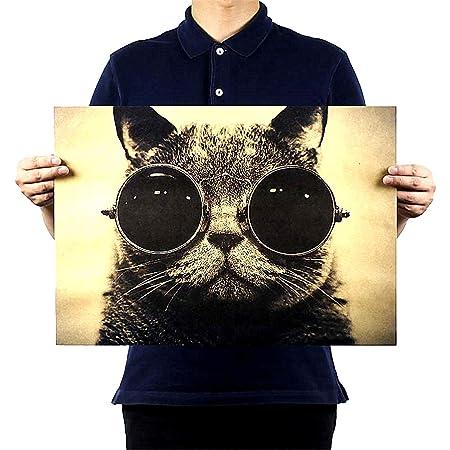 Beito Gato Fresco Guapo Gafas de Sol Roca Animal Papel Kraft ...