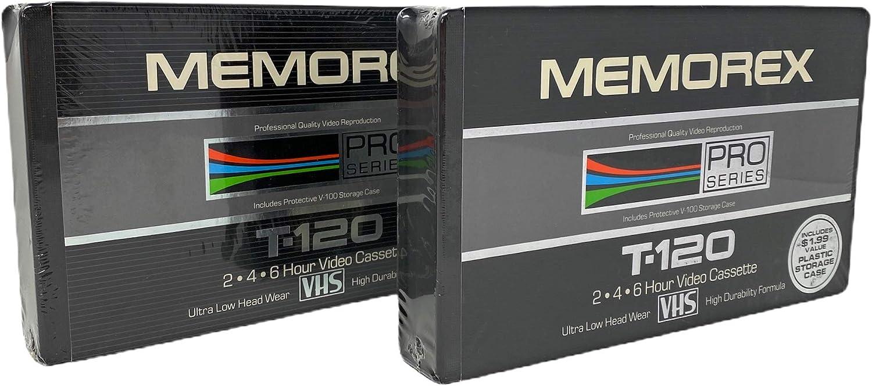 Memorex Pro Series T-120 - Cinta de vídeo en Blanco VHS en Estuche Protector V-100: Amazon.es: Electrónica