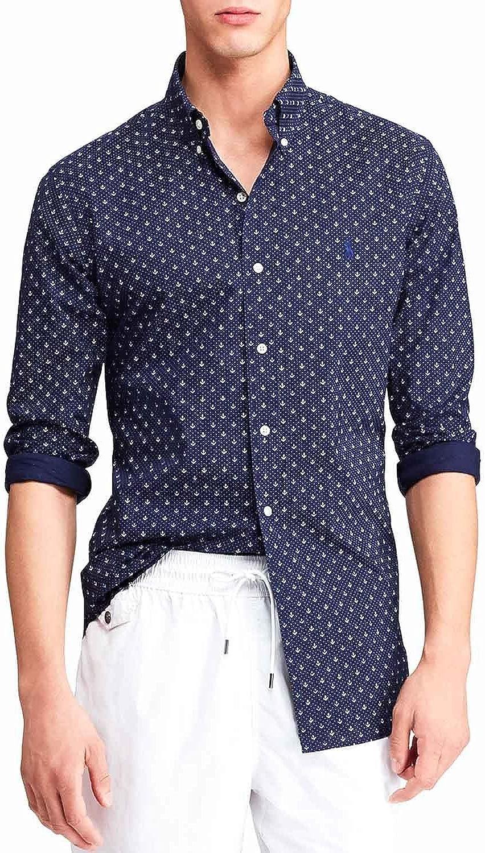Polo Ralph Lauren Camisa Anclas Azul Hombre S Marino: Amazon.es: Ropa y accesorios