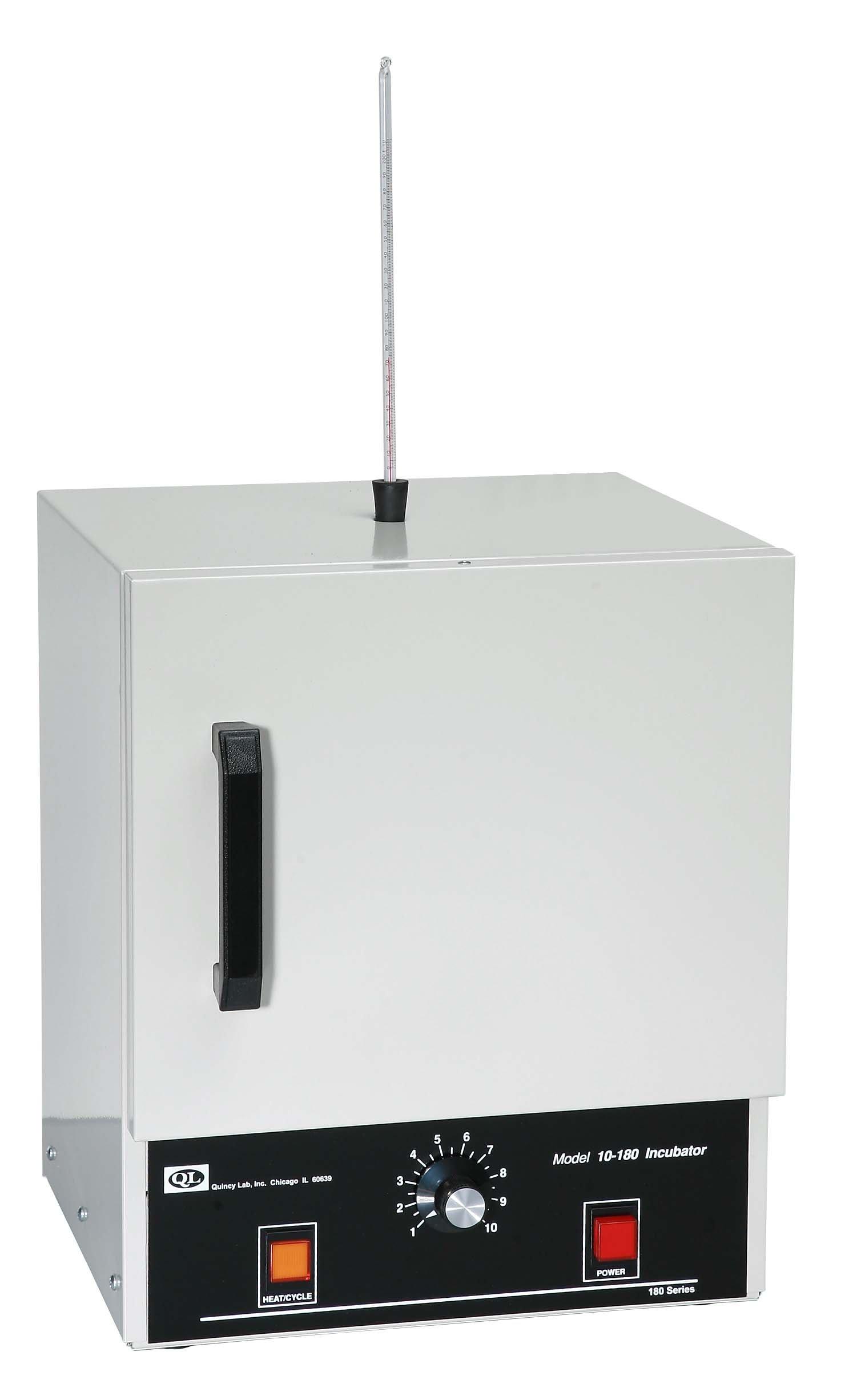 Quincy Lab 10-180 Aluminum/Steel Door Analog Incubator, 0.7 Cubic feet, 115V, 270W