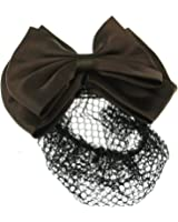 Zac's Alter Ego® Large Double Bow On Barrette with Mesh Bun Net