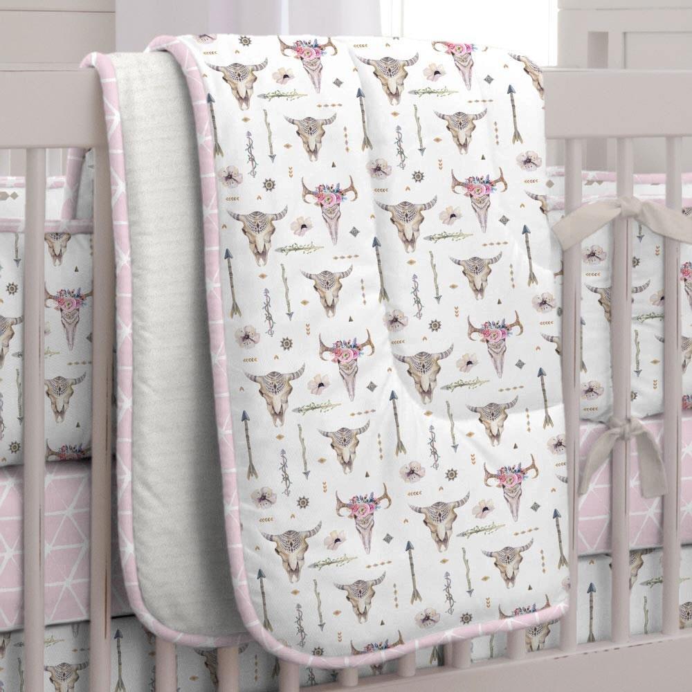 Carousel Designs Pink Boho Crib Comforter