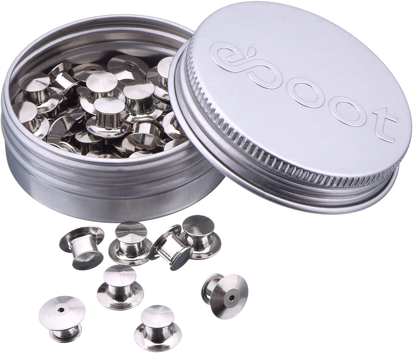 eBoot 50 Pieces Pins Keepers Backs Locks Pin Backs Locking Clasp Replacement, No Tool Required