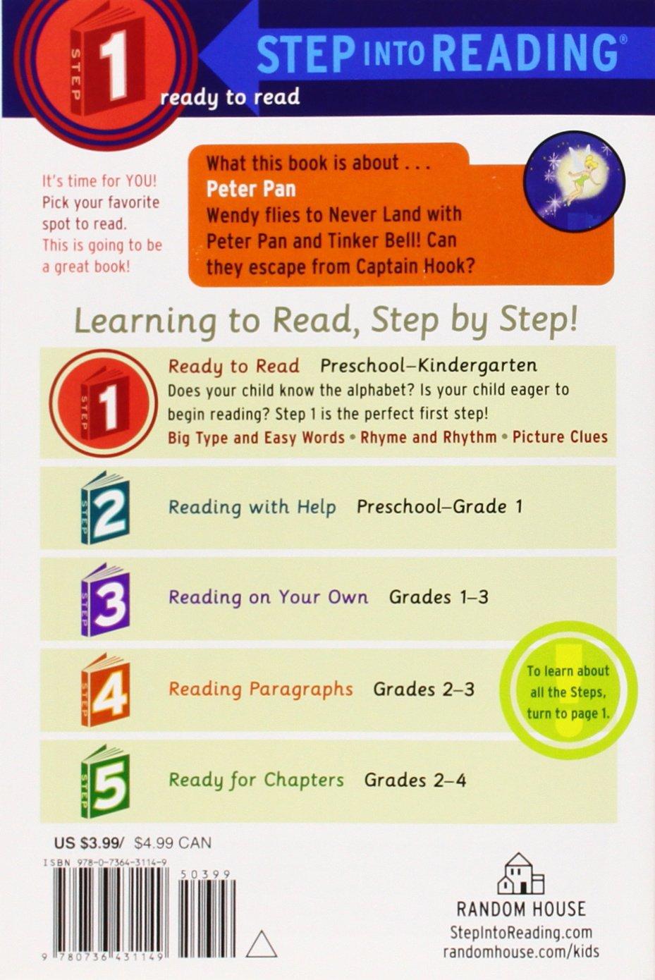 Peter Pan Step into Reading (Disney Peter Pan): RH Disney, RH ...