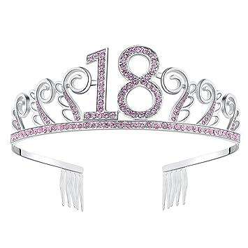 Silver Diamante Crystal 18th Birthday Tiara / 18th Diamante Tiara 18th Birthday Crown 18th Gift Idea Divtcflrb