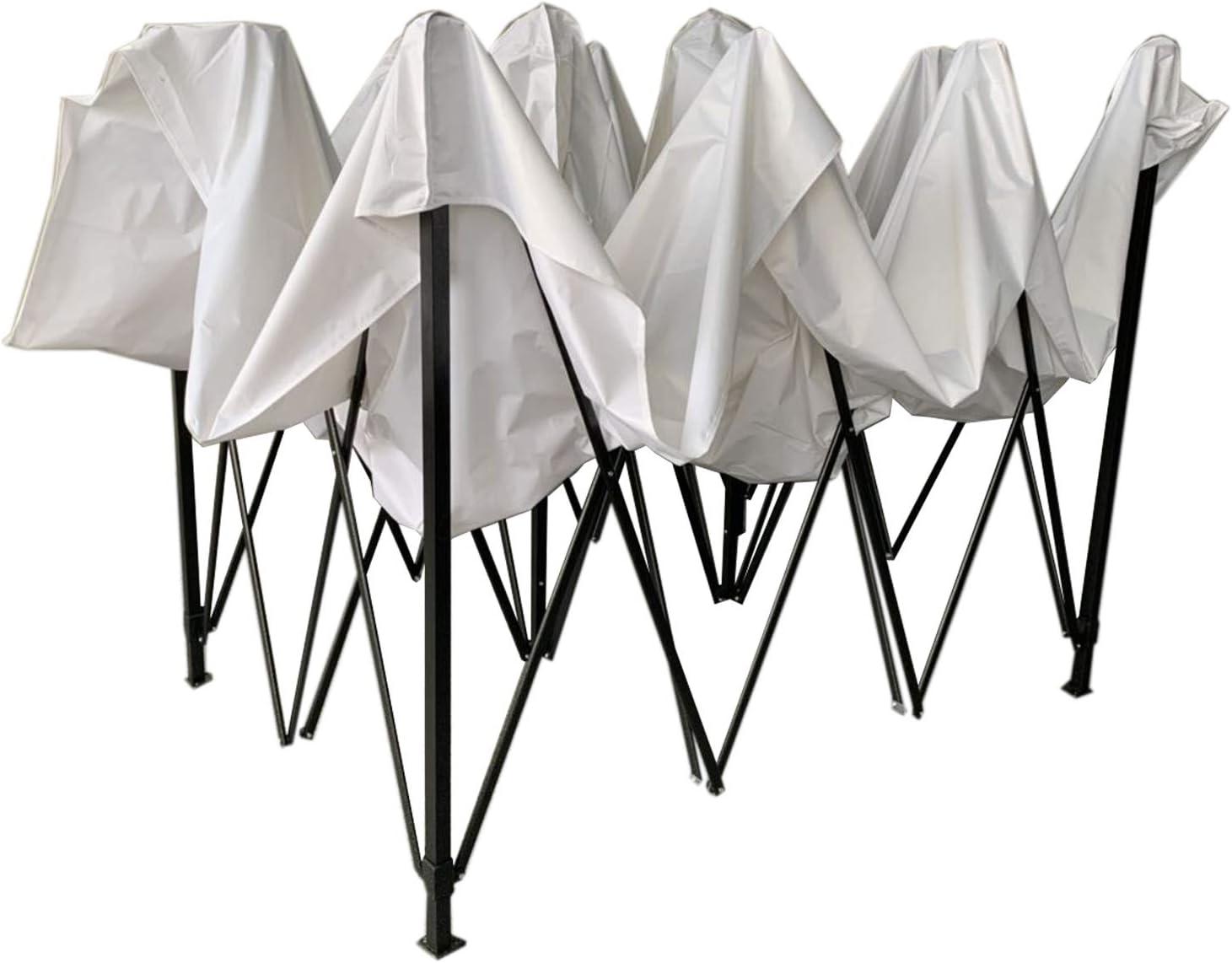 Rebecca Mobili Pabellón Cenador Plegable Blanco Metal Poliéster Bolsa de Transporte Camping Festival Terraza - 3,1x4,5x3 m (A x AN x FON) - Art. ...
