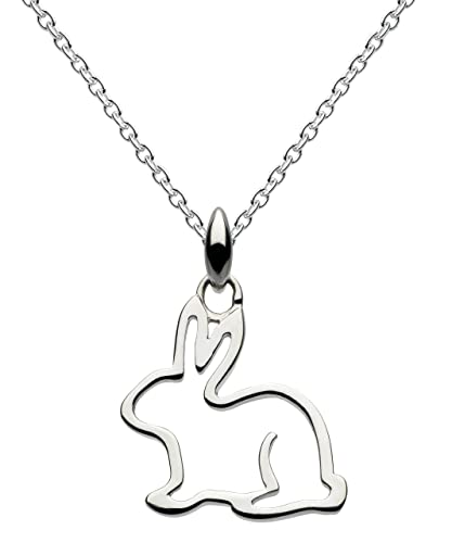 ac6dc9cf7 Dew Sterling Silver Bunny Necklace of Length 18 inch on 45.7 cm Chain:  Amazon.co.uk: Jewellery