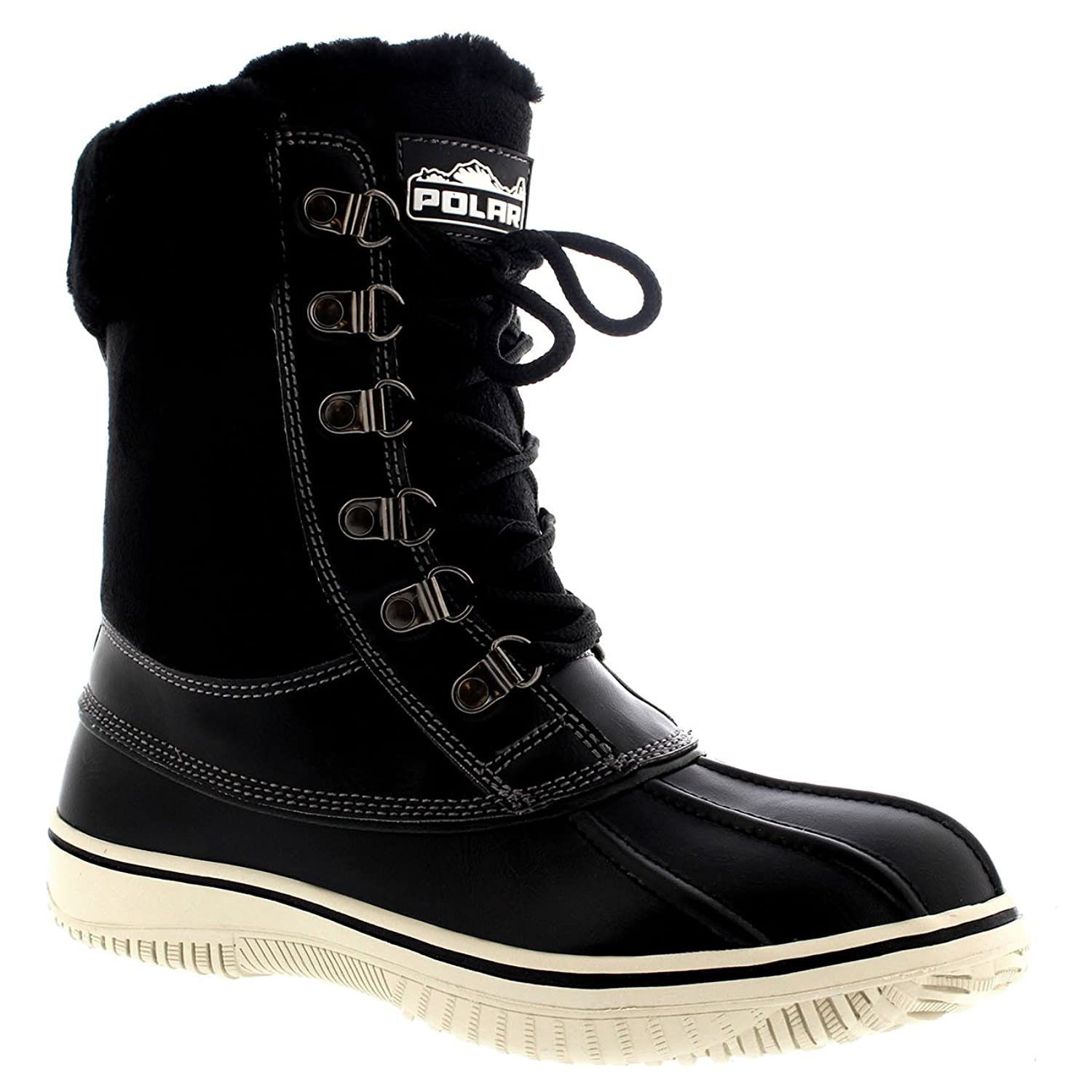 Womens Polar Snow Winter Genuine Mid Calf Boot