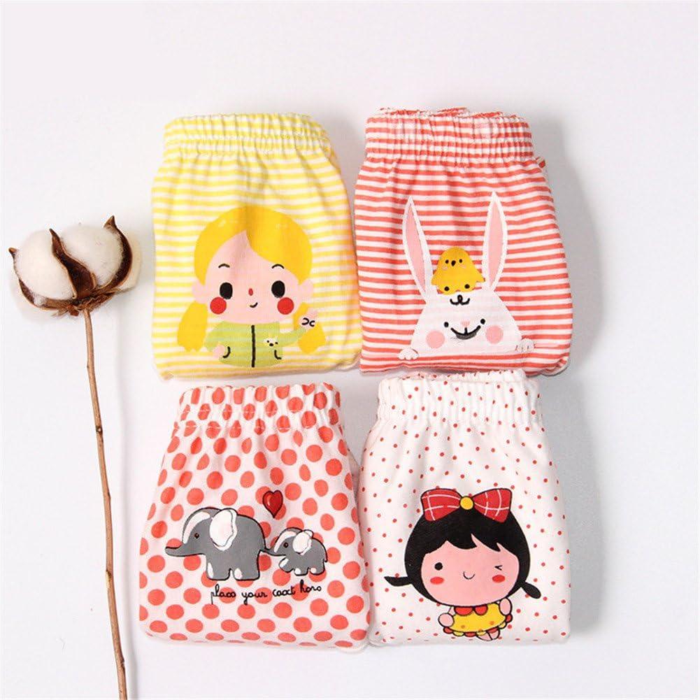 JIEYA Baby Girls Cotton Underwear 4-Pack Toddlers Training Pants