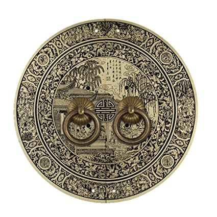 Aldaba,Manija cobre Mango antiguo cobre Aldaba de china Manija de puerta botón de cobre