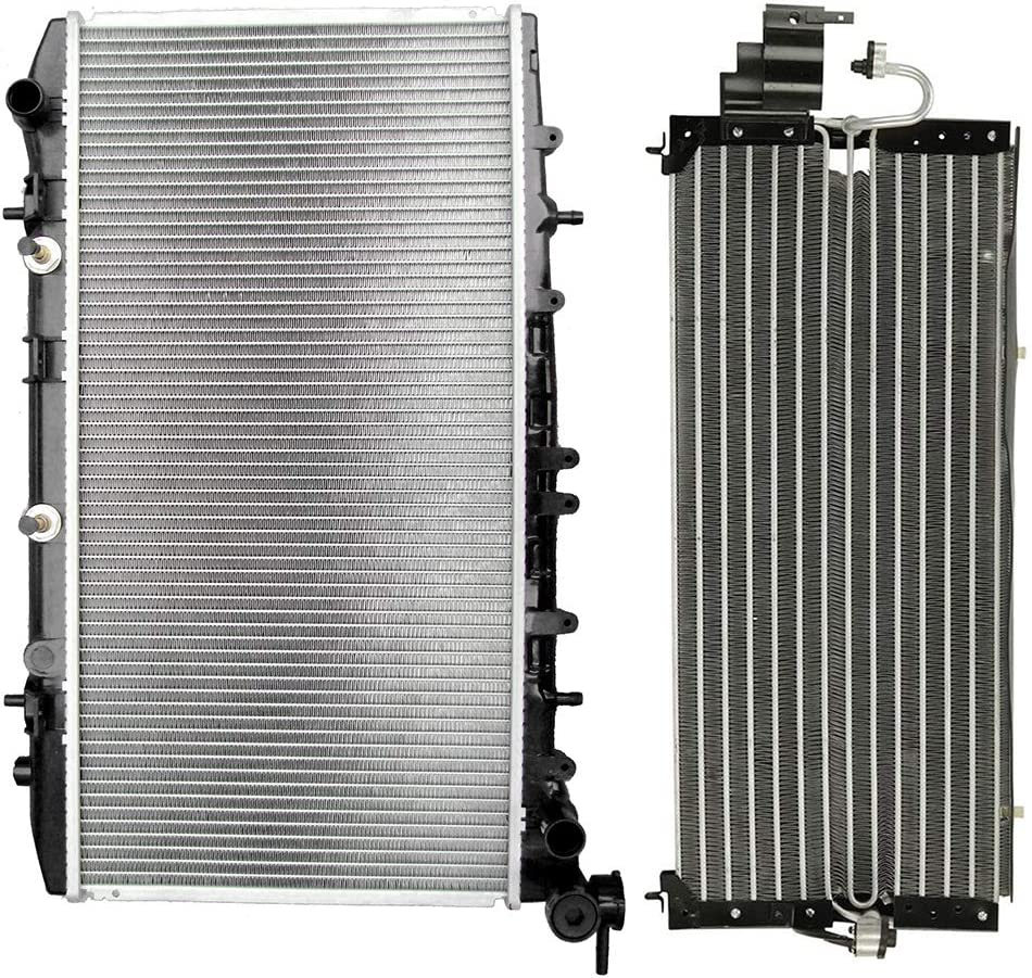 ECCPP Radiator+AC A//C Condenser Replacement fit for 1991 1992 1993 1994 Nissan Sentra Sedan SE-R 4322 1317