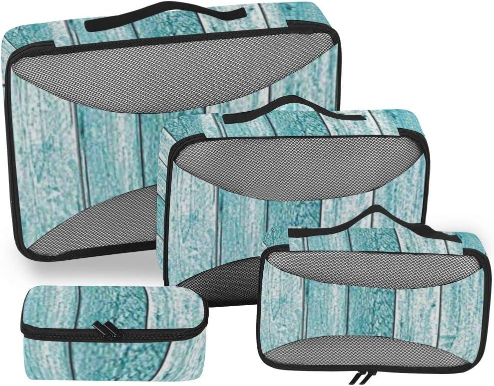 Bolsa de Aseo de Viaje Grande para Mujer, Color Azul Claro, 4 Unidades, para secador de Pelo, Estuche Multiuso, cosméticos, Maquillaje, baño, Maleta, Equipaje
