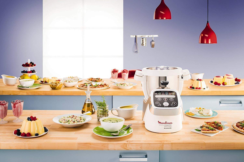 Moulinex Cuisine Companion - Robot de cocina + XF383110 Accesorio cortador + XF384B10 Accesorio vapor + Accesorio vaso inox y eje cuchilla: Amazon.es: Hogar