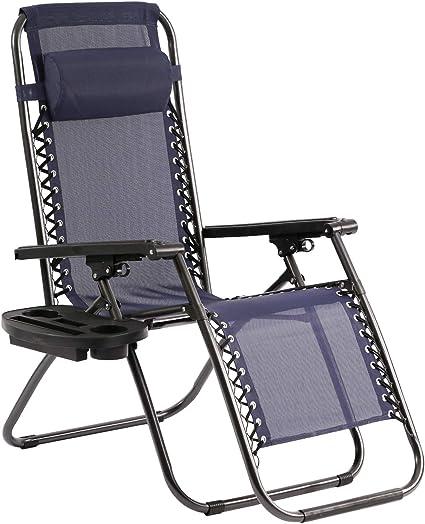Amazon.com: BMS Silla de gravedad cero para patio, sala ...