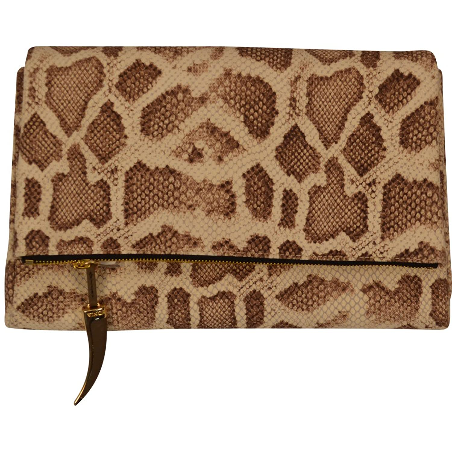Vince Camuto Val Clutch in Snake-Embossed